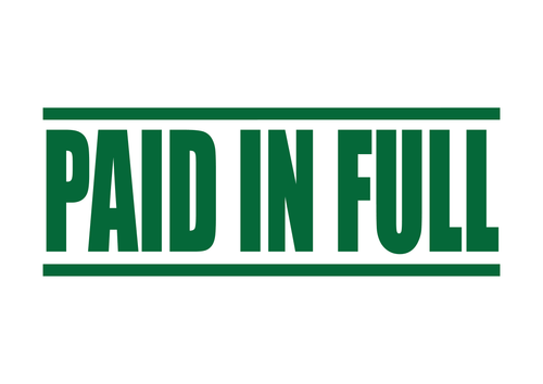 Paid In Full Stamp
