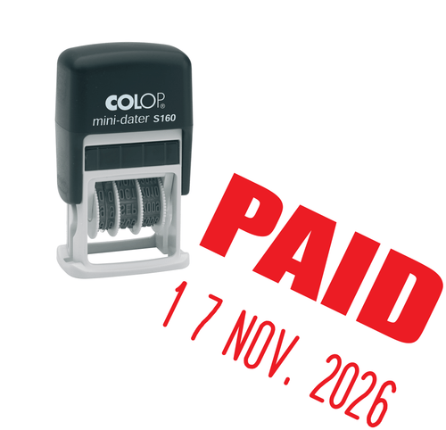 Paid Mini-Date Stamp
