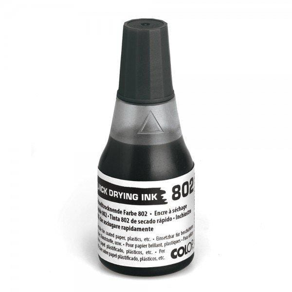Colop No. 802 Quick Dry Refil Ink 25mL Bottle Black