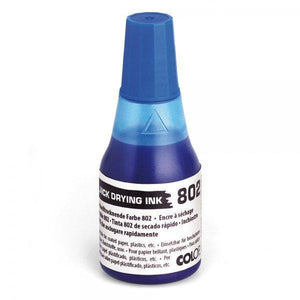 Colop No. 802 Quick Dry Refil Ink 25mL Bottle Blue