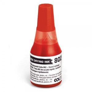 Colop No. 802 Quick Dry Refil Ink 25mL Bottle Red