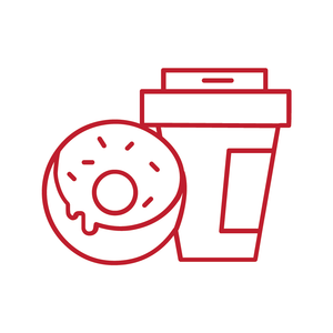 Donut and Coffee Loyalty Card Stamp 12 x 12mm, No.52