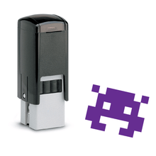 Load image into Gallery viewer, Space Invader Dark Loyalty Card Stamp 12 x 12mm, No.42