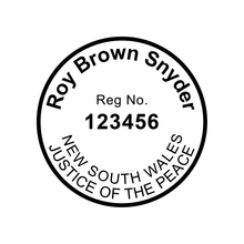 Load image into Gallery viewer, New South Wales Justice Of The Peace Stamp Round 30mm