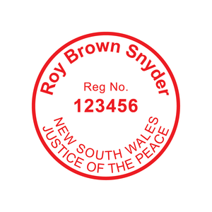 New South Wales Justice Of The Peace Stamp Round 30mm