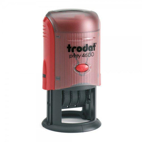 Trodat Printy 46130 Custom Self-Inking 4mm Date Stamp 30mm Round