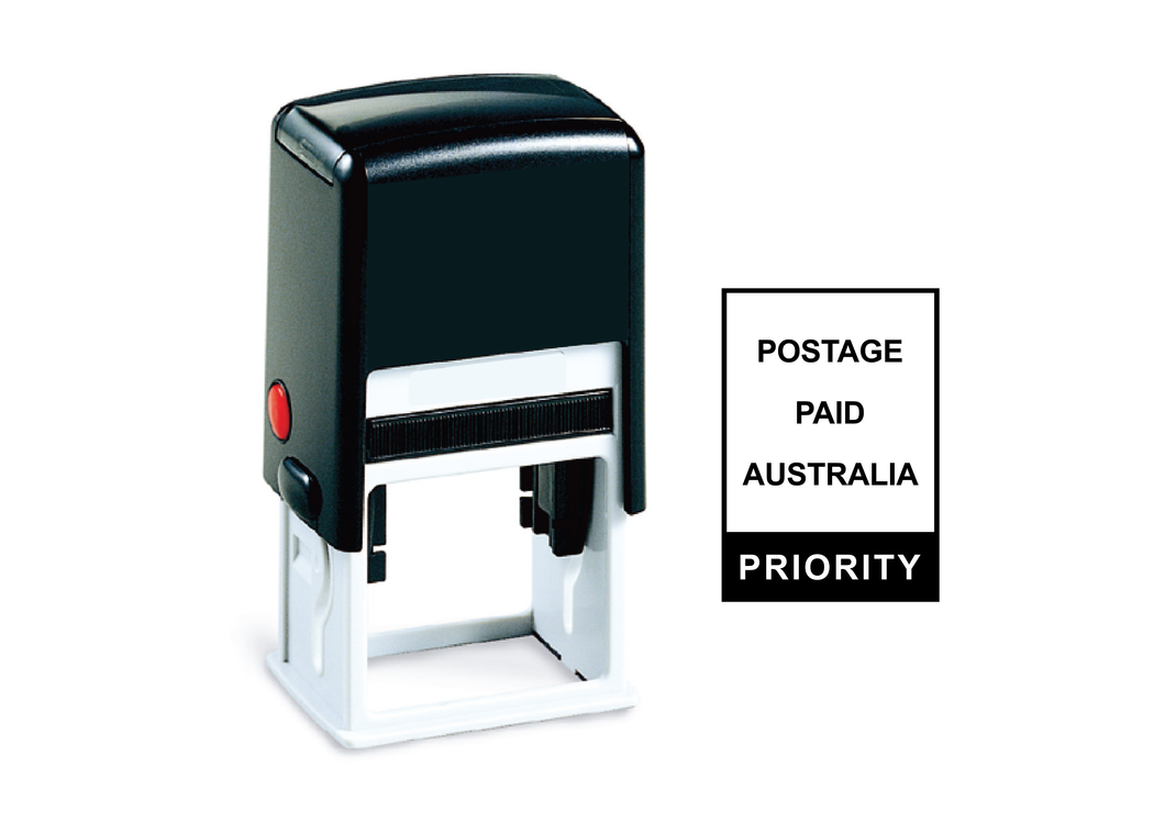 Self-Inking Postage Paid Priority Stamp