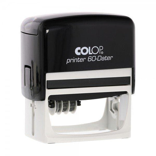 Colop Printer 60DL Custom 3mm Date Stamp 76 x 37mm Offset Left