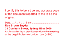 Load image into Gallery viewer, Australian Legal Practitioner NSW True Copy Stamp