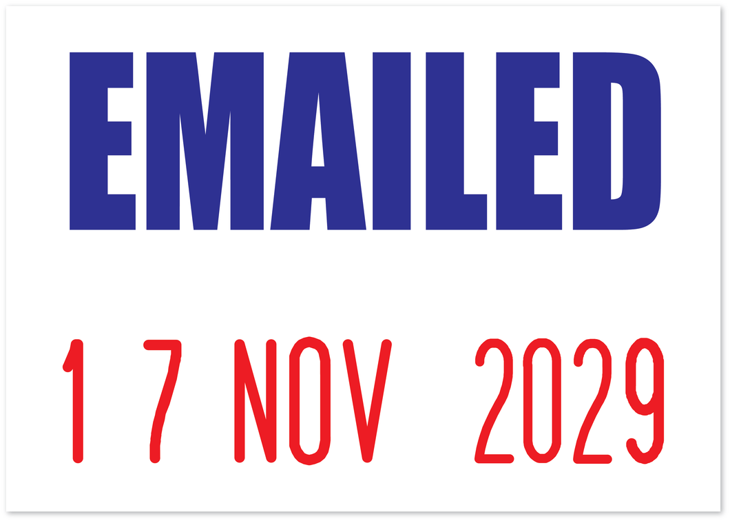 Emailed Mini-Date Stamp