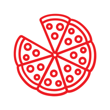 Load image into Gallery viewer, Pizza Loyalty Card Stamp 12 x 12mm, No.20