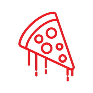 Pizza Slice Loyalty Card Stamp 12 x 12mm, No.24