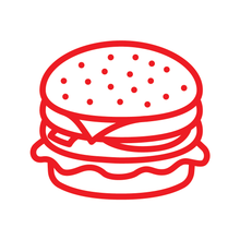 Load image into Gallery viewer, Burger Loyalty Card Stamp 12 x 12mm, No.31