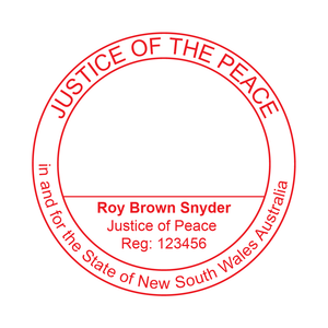 New South Wales Justice Of The Peace Stamp Large Round