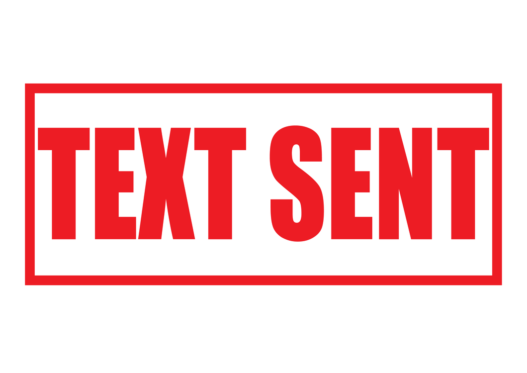 Text Sent Stamp