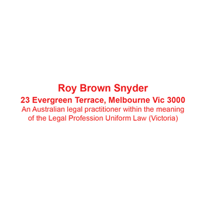 Australian Legal Practitioner Stamp Victoria