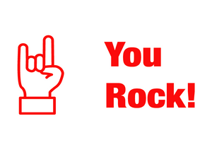 School Teacher Stamp - You Rock