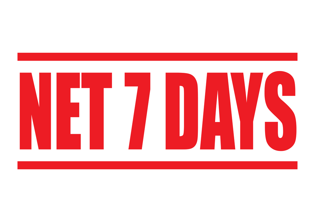 Net 7 Days Stamp