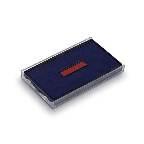 Trodat Replacement Ink Pad 6/4926 2 Colour Blue and Red Date Pad