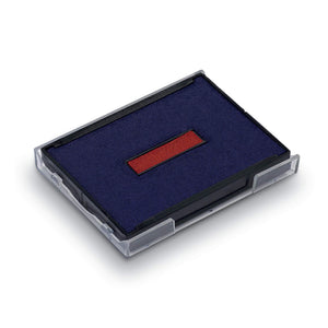 Trodat Replacement Ink Pad 6/4927 2 Colour Blue and Red Date Pad