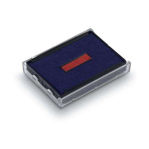 Trodat Replacement Ink Pad 6/4850 2 Colour Blue and Red Date Pad