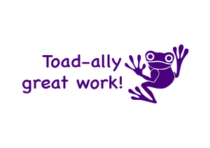 School Teacher Stamp - Toad-ally great work