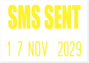 SMS Sent Mini-Date Stamp