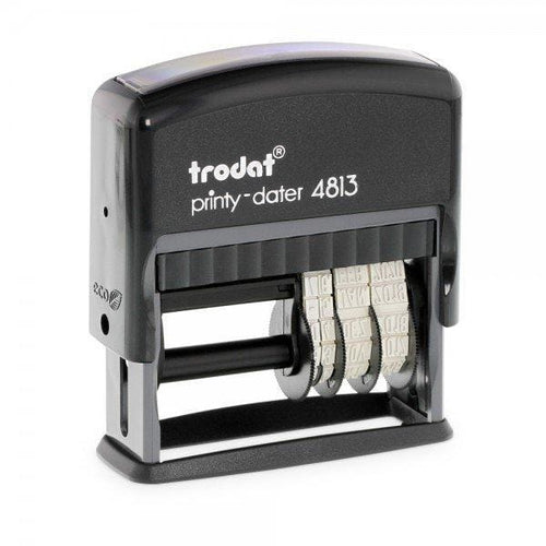 Trodat Printy 4813 Custom Self-Inking 3.8mm Date Stamp 26 x 9mm date beside