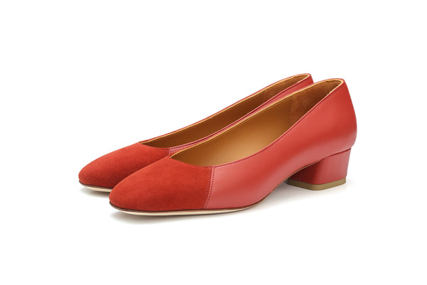 Group Made-To-Order (GMTO) Jessica 35 in Classic Mesa and Red Suede