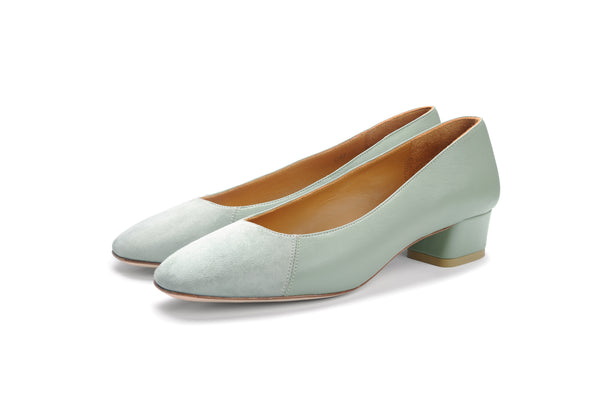Group Made-To-Order (GMTO) Jessica 35 in Premium Esparta and Sage Suede