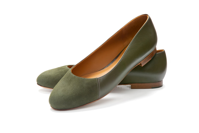 Group Made-To-Order (GMTO) Jessica in Classic Militare and Olive Suede