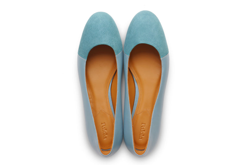 Group Made-To-Order (GMTO) Jessica in Classic Polvere and Teal Suede