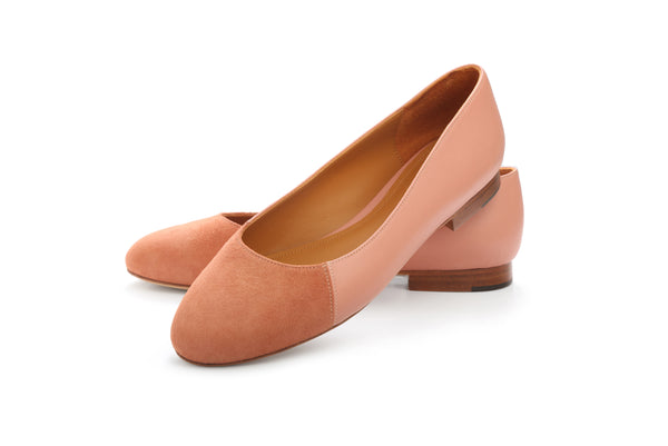 Group Made-To-Order (GMTO) Jessica in Premium Prunas and Rust Suede