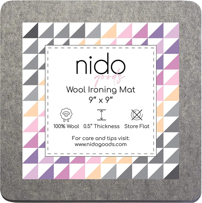 Wool Ironing Mat - 9 x 9 Inches