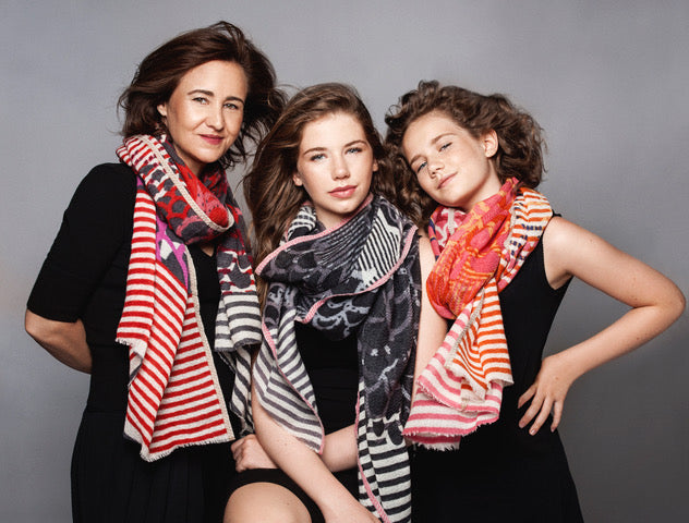 Scarves women Montreal, local designer, colours and softness , smart casual