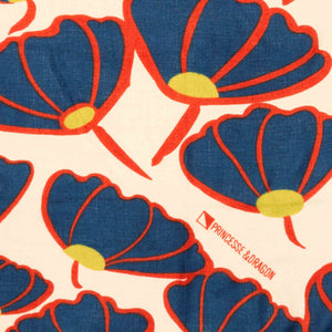Vente atelier - Foulard Poppy - Orange et bleu