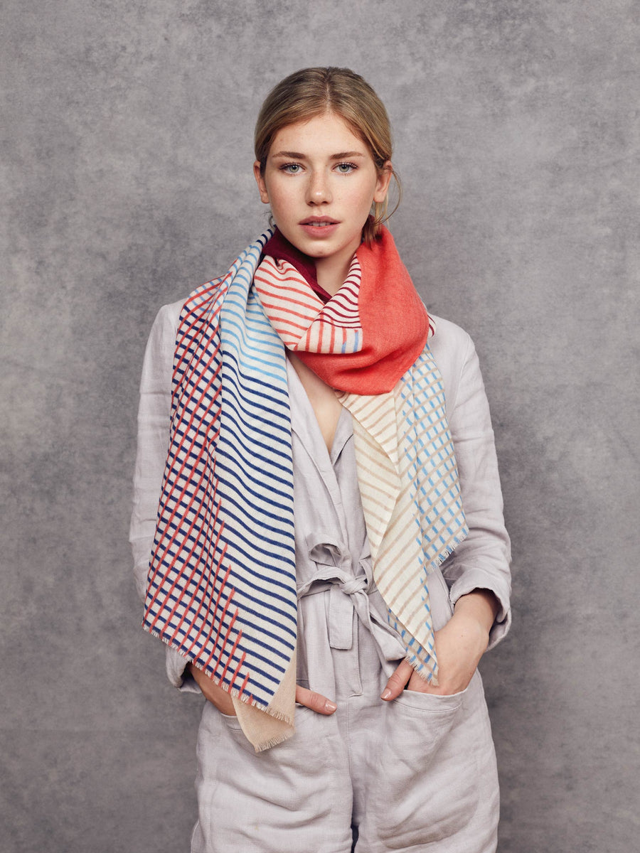 Foulard Francisca - Rouge et Rose