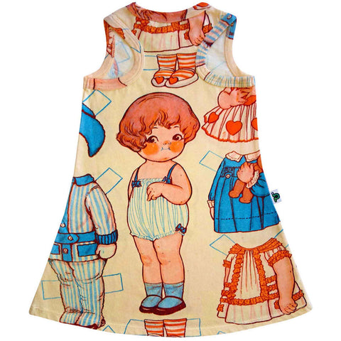 Tank dress with image of Dolly Dingle and paper clothes to dress her in