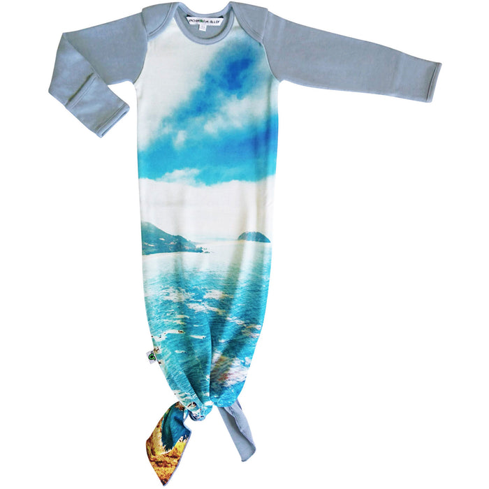Knotted sleep sack with image of Big Sur, California and the beautiful cliff, coastline and ocean.