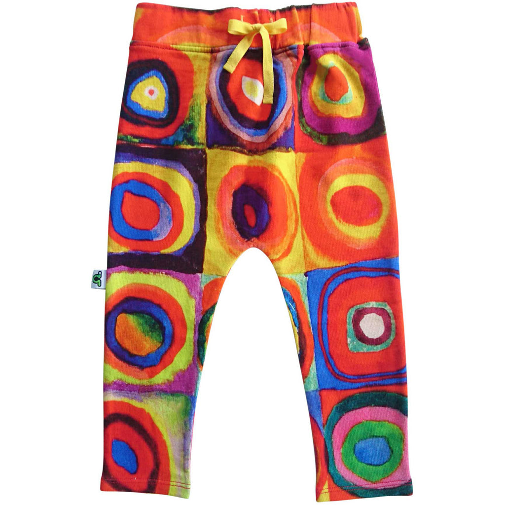 Sweatpants with print of Wassily Kandinsky's, Color Study, Squares with Concentric Circles