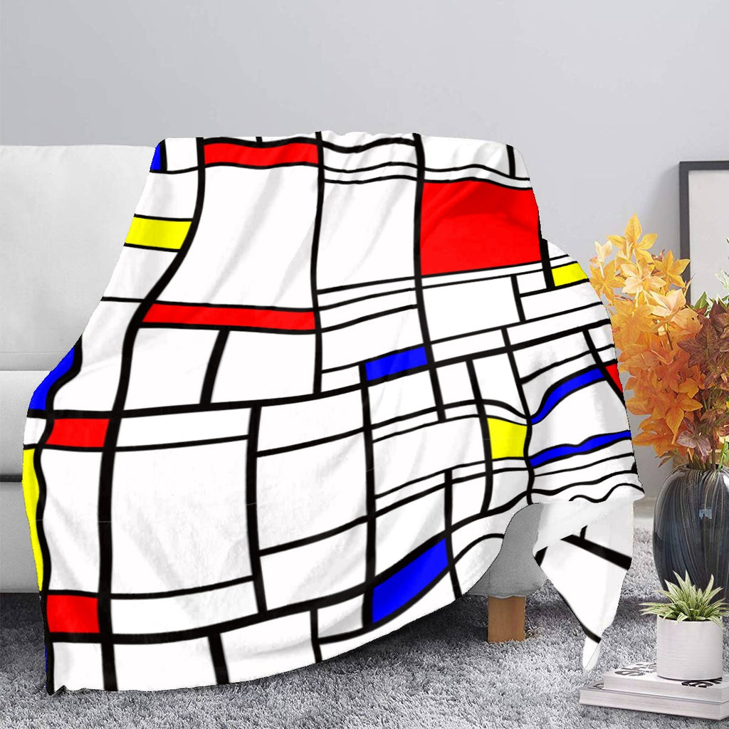 Plush Blanket - Mondrian