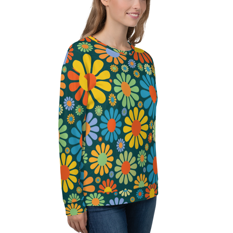 Adult Sweatshirt - Flower Power