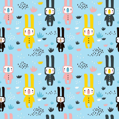 Footie - Full Sleeve - Bunny Bears (PRE-ORDER ONLY)