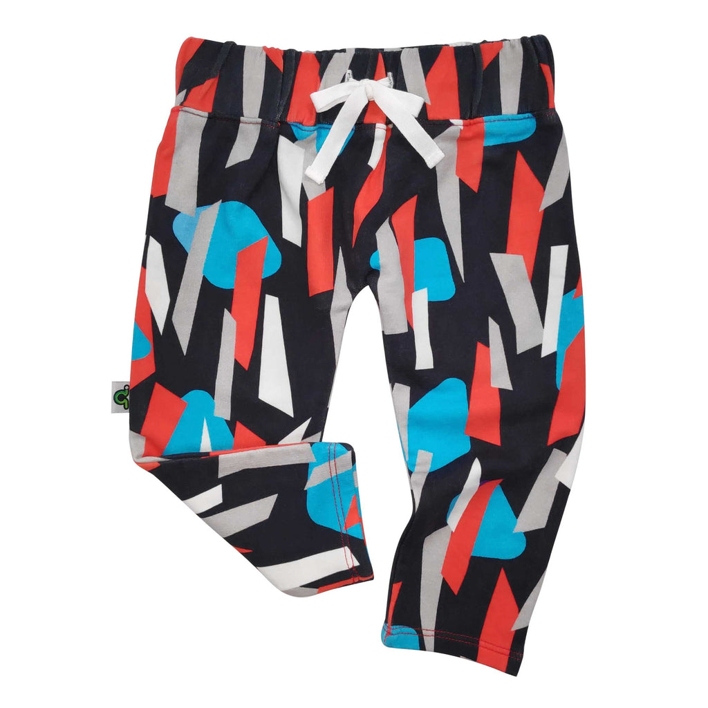 French Terry joggers with abstract printed bottoms