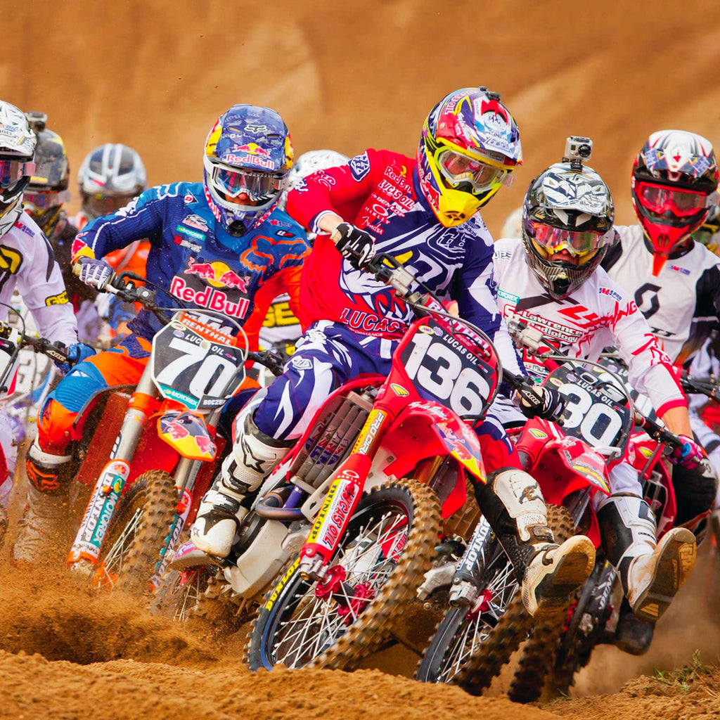 Image of motocross participants in action