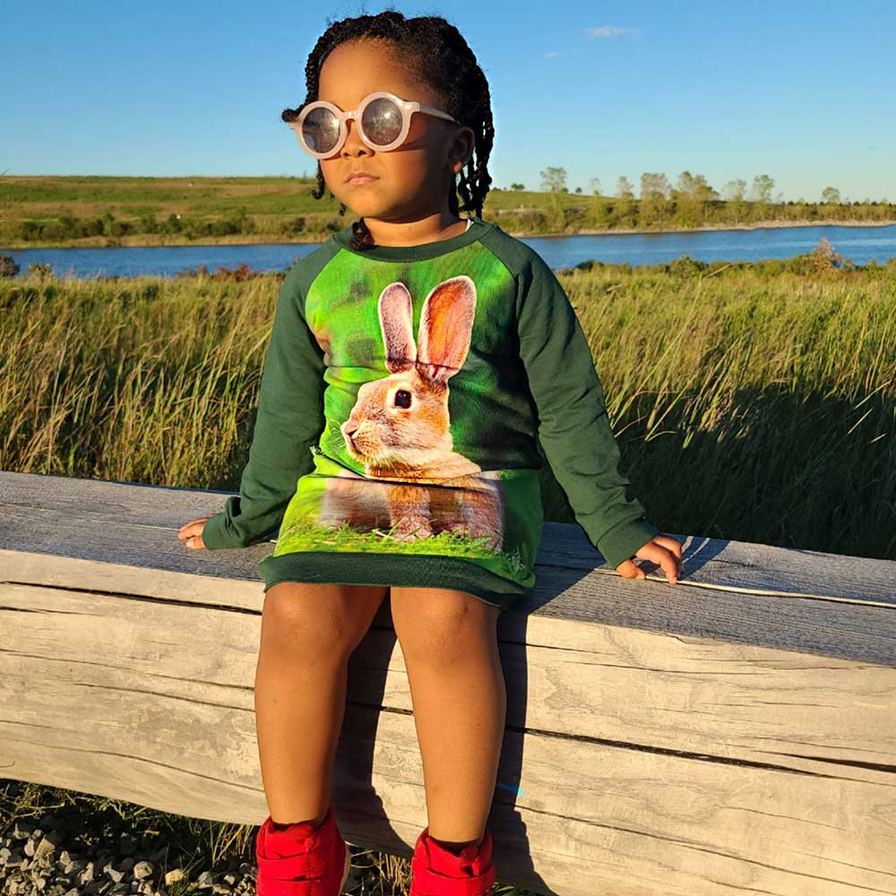 Sweatshirt Dress - Lil Kid - Rabbit