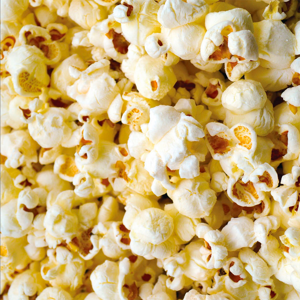Image of popcorn in large scale
