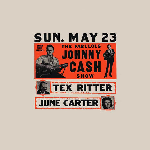 Image of a vintage Johnny Cash concert flyer