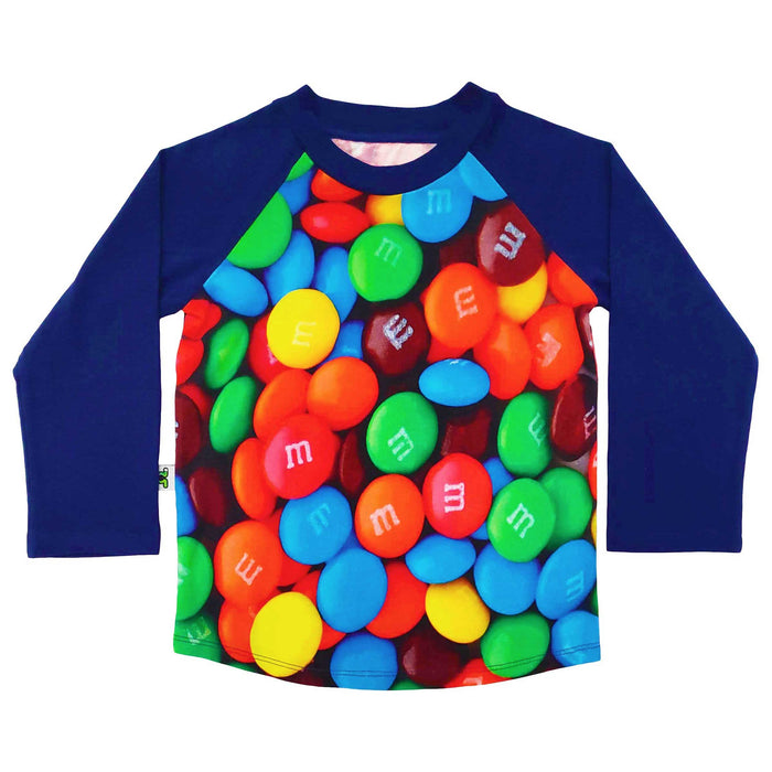 Raglan tee with image of M&M's