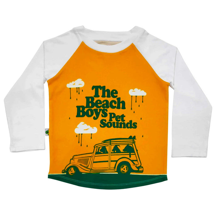 Raglan tee with image of The Beach Boys Pet Sounds concert flyer